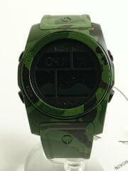 NIXON/ニクソン/クォーツ腕時計/デジタル/ラバー/BLK/マルチカラー