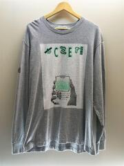 長袖Tシャツ/XL/コットン/グレー