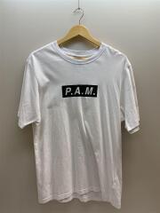 Tシャツ/L/コットン/WHT/ホワイト