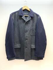 90s/コート/M/ウール/NVY/無地
