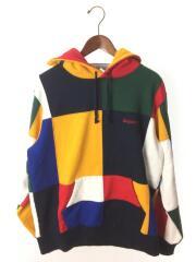17aw/patchwork hooded sweatshirt/パーカー/M/コットン/マルチカラー