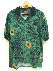 16ss/Peacock Shirt/ピーコック/アロハシャツ/XL/レーヨン/GRN