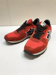ローカットスニーカー/42/RED/スウェード