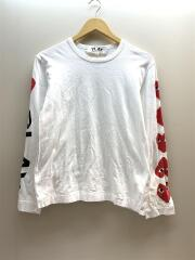 AZ-T262/RED HEART LONG SLEEVE/使用感有/長袖Tシャツ/S/コットン/WHT