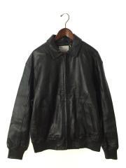 18ss/Studded Arc Logo Leather Jacket/スタジャン/M/牛革/BLK