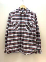 HP-B004/15AW/エルボーパッチワークシャツ/長袖シャツ/M/--/RED/チェック