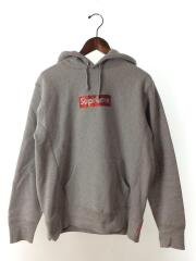 19ss/Swarovski Box Logo Hooded Sweatshirt/タグ付/美品/S/GRY/プルオーバーパーカー スワロフスキ-ボックスロゴ