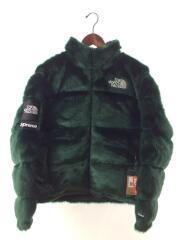 20AW/Faux Fur Nuptse Jacket/タグ付/未使用品/ダウンジャケット/M/GRN
