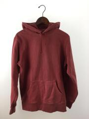 16SS/Overdyed Hooded Sweatshirt/パーカー/M/コットン/RED