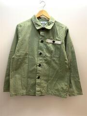 刺繍/ミリタリーシャツ/長袖シャツ/L/コットン/KHK