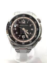 ハミルトン/自動巻腕時計/アナログ/ステンレス/シルバー/カーキ・パイロット/H764550