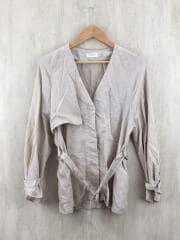 ツイルノーカラートレンチシャツ/--/--/ベージュ