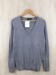 セーター(薄手)/S/コットン/GRY