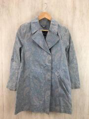 ゴム引きコート/34/後ろ身頃・襟回り・袖汚れ/接着剤跡有