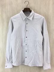 20AW/パッチワークレギュラーシャツ/長袖シャツ/2/レーヨン/GRY