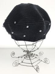 PEARL BERET/ベレー帽/コットン/ブラック/TMT02463