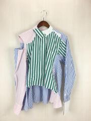 sacai/再構築カットアウトストライプシャツ/長袖シャツ/18SS/1/コットン/マルチカラー