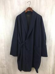Wool Robe Coat 2/40 Wool Serge/コート/L/ウール/NVY