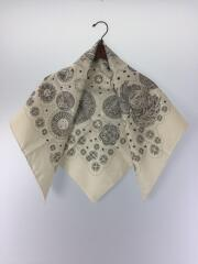 スカーフ/シルク/ホワイト/総柄