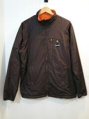 ×NIKE/リバーシブルナイロンフリースジャケット/L/ポリエステル/ブラウン/L116738
