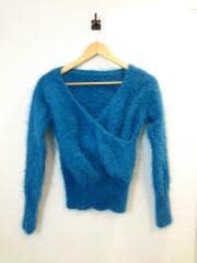 セーター(薄手)/--/アンゴラ/ブルー