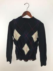 セーター(薄手)/XS/ウール/ブラック