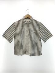 YARN DYE COTTON LINEN/半袖シャツ/1/コットン/ホワイト/595-8152552
