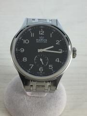 MARVIN/自動巻腕時計/アナログ/ステンレス/ブラック/シルバー/M001-14