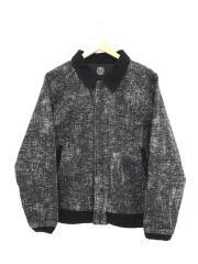 PEELED CLOTH VARSITY JACKET/M/コットン/ブラック/PC-049-1197