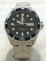 自動巻腕時計/アナログ/ステンレス/BLK/SLV/AA02-C8-A