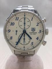自動巻腕時計/アナログ/ステンレス/SLV/SLV/クロノグラフ carrera カレラ cal1887 バックスケルトン