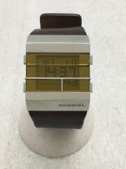 腕時計/デジタル/レザー