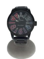 xAngel Clover/クォーツ腕時計/アナログ/ステンレス/ブラック/BE44