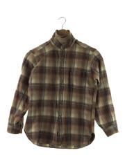 80s/ネルシャツ/L/ウール/ブラウン