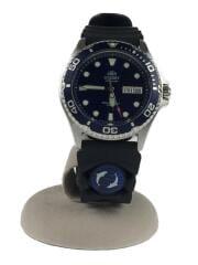 自動巻腕時計/アナログ/ラバー/ネイビー/ブラック/AA02-C9-A