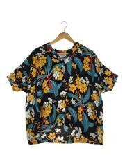 × SUN SURF/別注ハワイアンセーラーシャツ/半袖シャツ/レーヨン/ブラック