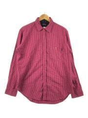 ネルシャツ/L/コットン/ピンク