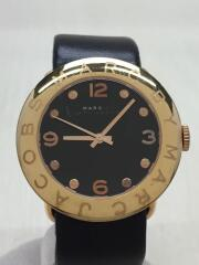 エイミー/クォーツ腕時計/アナログ/レザー/ブラック/MBM1225