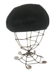 E.Hemp BERET RENEW/ベレー帽/57.5cm/ポリエステル/ブラック/805390017
