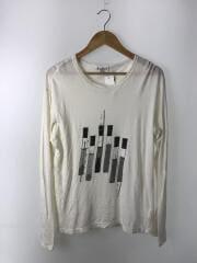 長袖Tシャツ/3/コットン/WHT