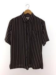 半袖シャツ/2/ポリエステル/BLK/ストライプ/中古/108102001