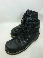 ブーツ/UK8/BLK/レザー/中古