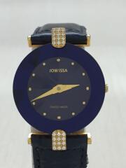 JOWISSA/クォーツ腕時計/アナログ/レザー/NVY/GRN