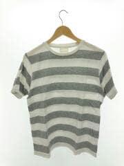 Tシャツ/38/コットン/WHT/ボーダー/中古