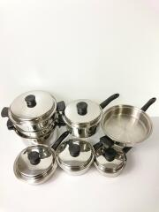 21piece cookware set/AMWAY QUEEN/鍋/11点以上/SLV