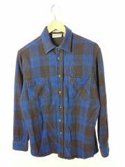 80s/ネルシャツ/ヘビー/STJOHN/SBAY/長袖シャツ/M/コットン/BLU/チェック