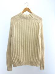 セーター(厚手)/46/コットン/WHT/無地