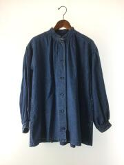 10OZ スタンドカラーシャツ/長袖シャツ/FREE/デニム/IDG/mfg9101011