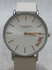 クォーツ腕時計/アナログ/レザー/IVO/IVO