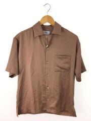 オープンカラー半袖シャツ/1/ポリエステル/CML/無地/107103001